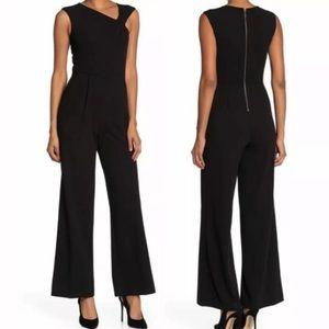 NWT Calvin Klein Asymmetric Neck Wide Leg Jumpsuit